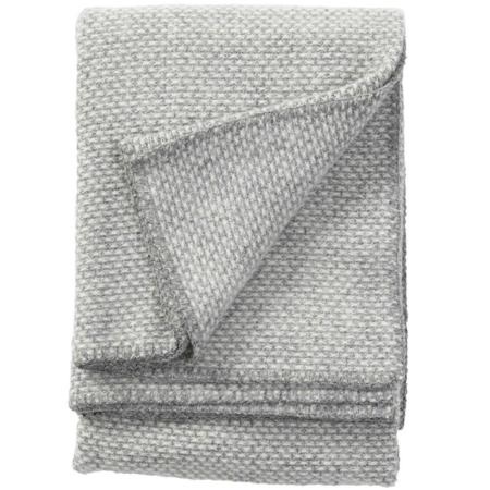 Klippan plaid Domino light grey