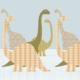 Inke muurprint Dino 153