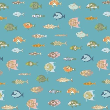 Inke2100 vissen donkerblauw staal