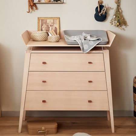 Leander Linea commode beuken met changing unit sfeer