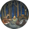 Behangcirkel Dieren in het Bos