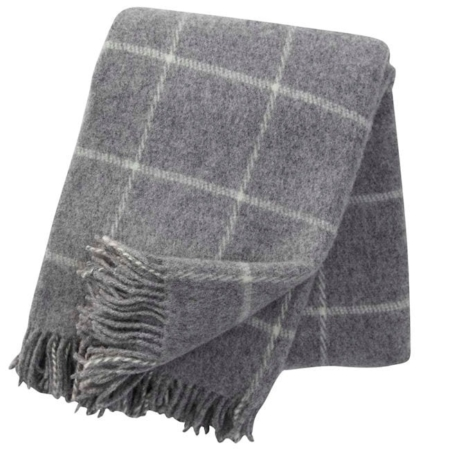 Klippan wollen plaids Vinga light grey