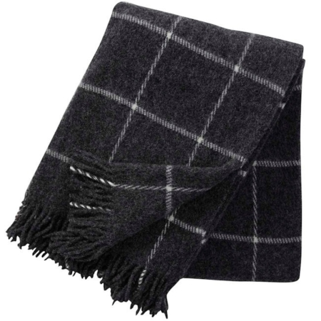 Klippan wollen plaids Vinga dark grey
