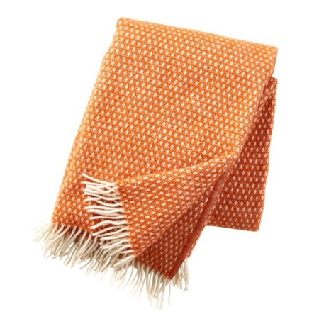 Klippan plaid Knut Orange