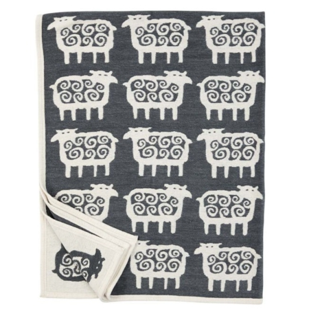 Chenille katoenen deken Black Sheep