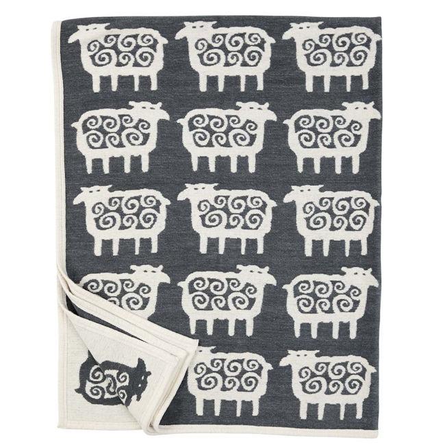 Chenille katoenen deken Black Sheep
