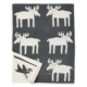 Chenille katoenen deken Moose