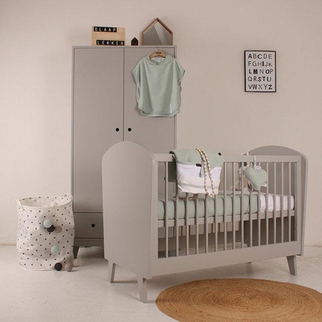 Happy baby ledikant daan grijs sterre en tijl kinderwinkel for Ledikant grijs