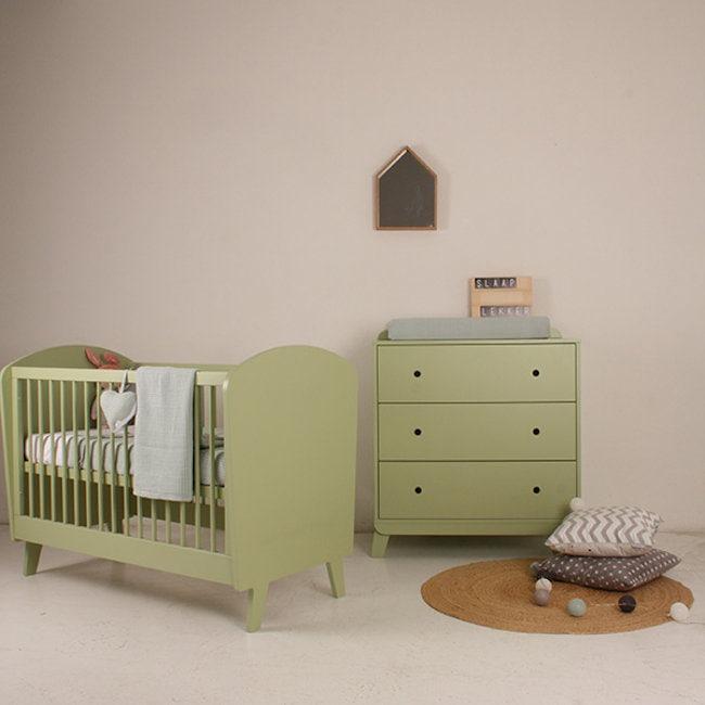 Bopita Ledikant Groen.Happy Baby Ledikant Daan Groen Sterre En Tijl Kinderwinkel