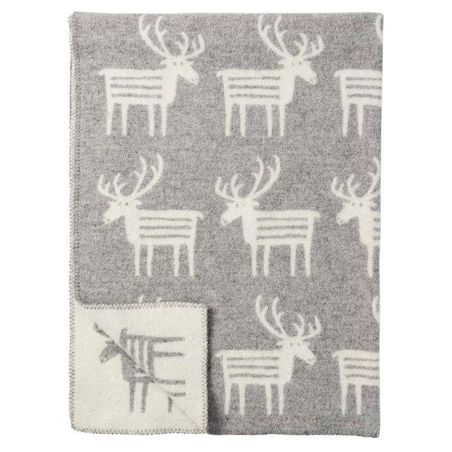 Klippan wollen deken Reindeer grey