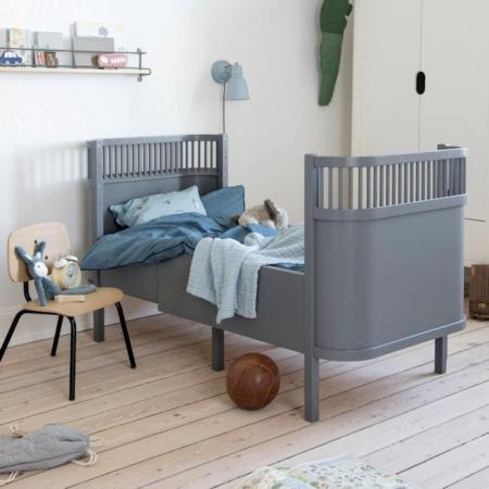 Sebra Harlequin Babybed classic grey sfeer
