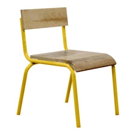 Kidsdepot Original stoel hout-metaal geel