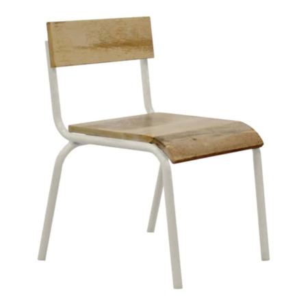 Kidsdepot Original stoel hout-metaal wit