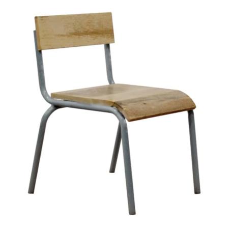 Kidsdepot Original stoel hout-metaal grijs