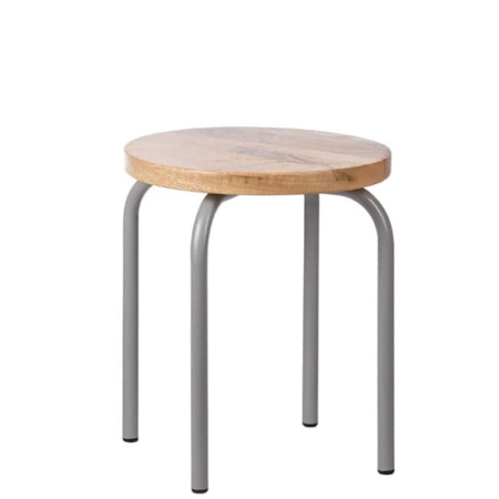 Kidsdepot Circle stool grey