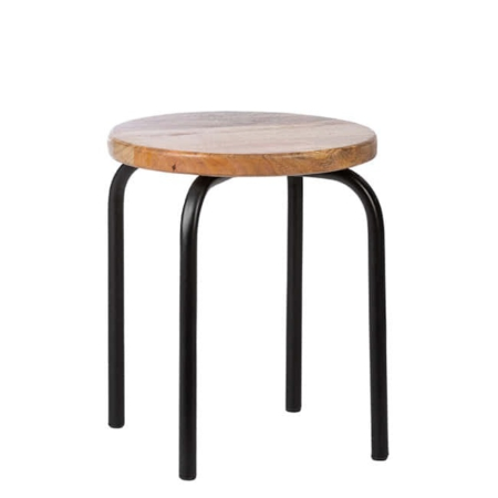 Kidsdepot Circle stool black
