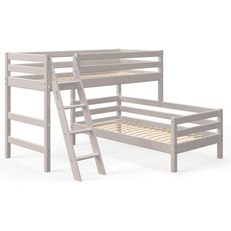 Flexa Classic hoekstapelbed schuine ladder greywash