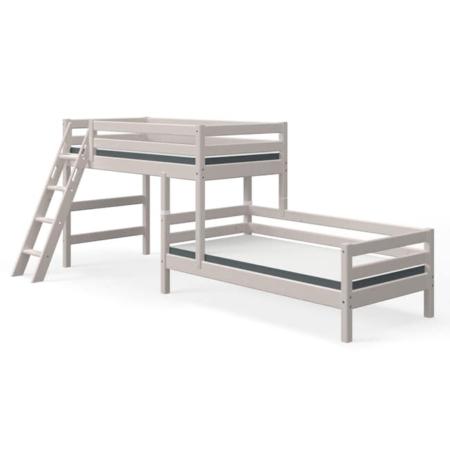 Flexa Classic hoekstapelbed schuine ladder greywash1