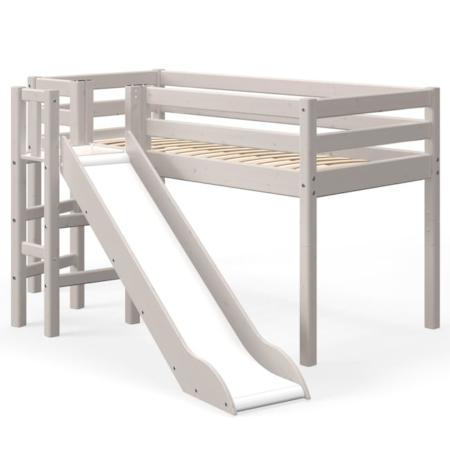 Flexa Classic mid-hoogslaper platform glijbaan greywash