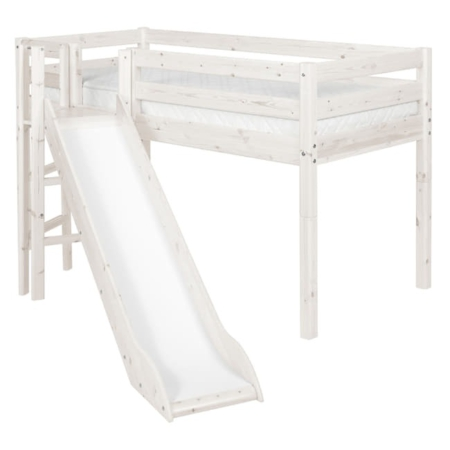Flexa Classic mid-hoogslaper platform glijbaan whitewash