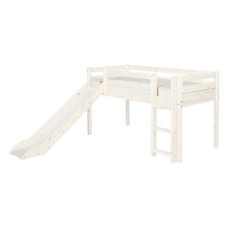 Flexa Classic mid-hoogslaper rechte trap glijbaan whitewash