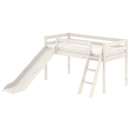 Flexa Classic mid-hoogslaper schuine trap glijbaan whitewash
