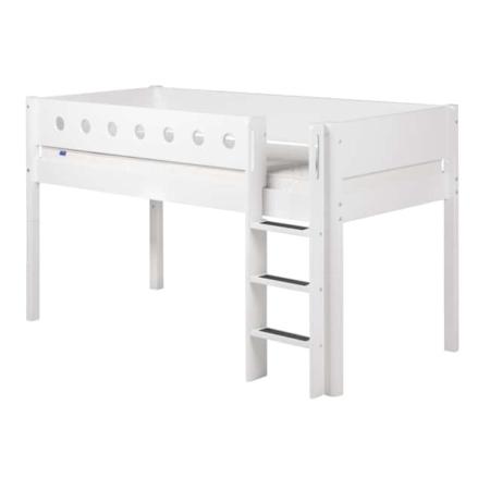 Flexa White mid-hoogslaper rechte trap white-white