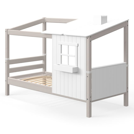 Flexa classic bed met 1 raam greywash