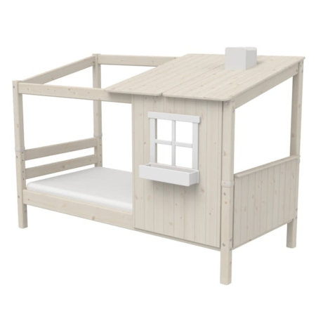 Flexa classic bed met 1 raam whitewash