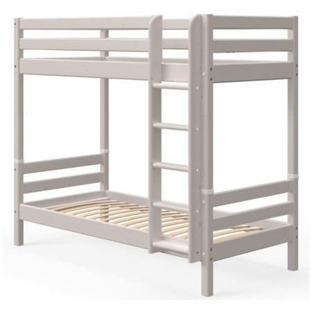 Flexa classic extra hoog stapelbed rechte trap greywash
