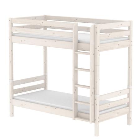 Flexa classic extra hoog stapelbed rechte trap whitewash