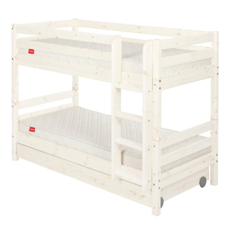 Flexa classic stapelbed met laden whitewash