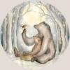 Hartendief behangcirkel Beren en Roodborstje sfeer3
