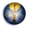 Hartendief wandlamp Maankus aan