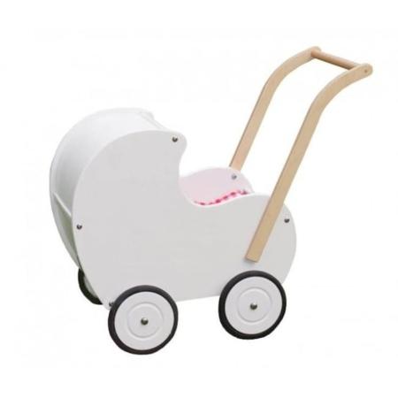 Van Dijk Toys vintage poppenwagen wit
