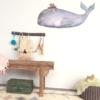 Hartendief muursticker op de rug van walvis sfeer