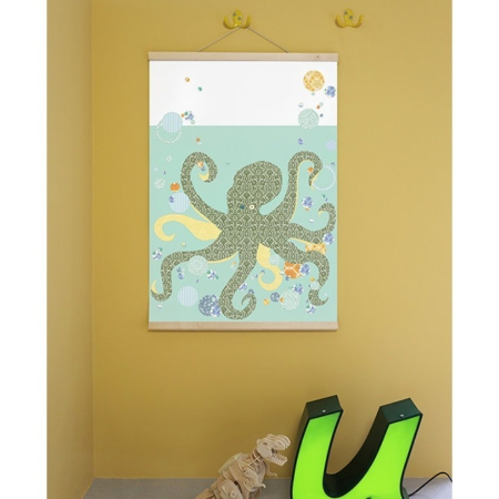 IKPO003 Inke poster octopus