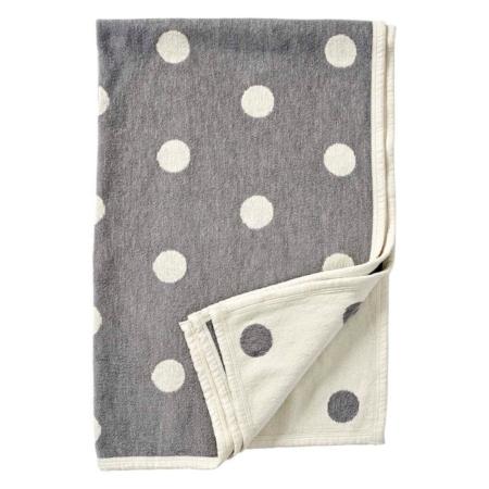 Klippan ledikantdeken Dots grey