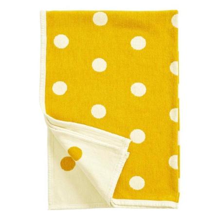 Klippan ledikantdeken Dots yellow