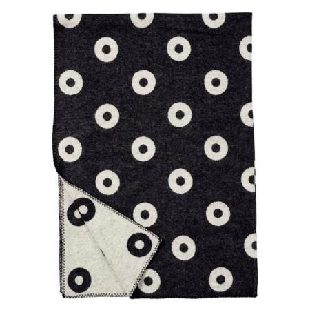 Klippan premium deken Rings black