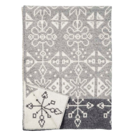 Klippan wollen deken Tradition grey