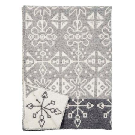 Klippan wollen deken Tradition grey