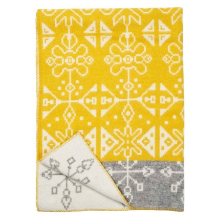 Klippan wollen deken Tradition yellow