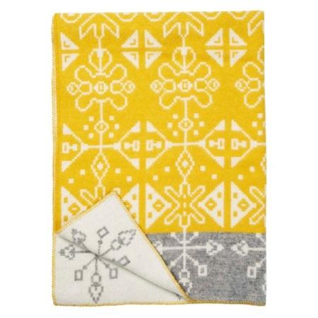 Klippan wollen deken Tradition yellow
