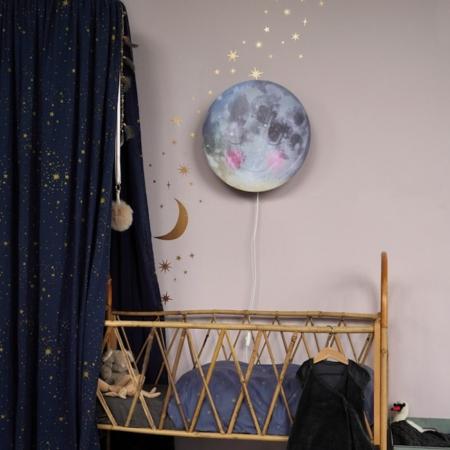 Hartendief muurstickers sterren en maan sfeer