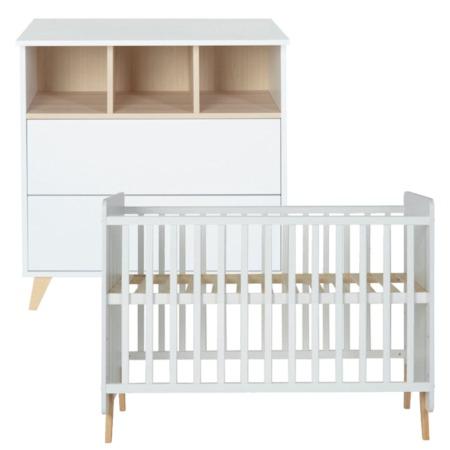 Quax 2 delige babykamer Loft white1