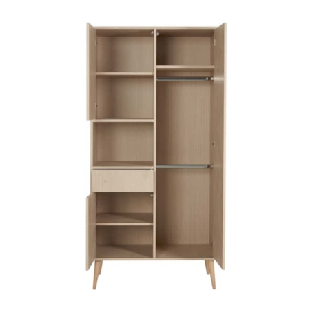 Quax 2 deurs kast Cocoon Naturel Oak open