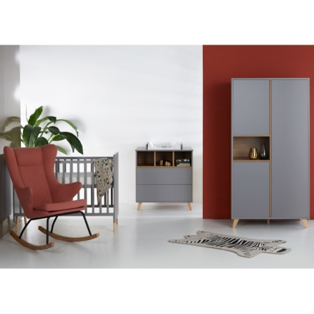 Quax 3 delige babykamer Loft grey
