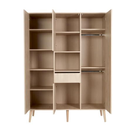 Quax 3 deurs kast Cocoon Naturel Oak open