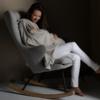 Rocking Adult Chair De Luxe Sand Grey sfeer